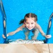 Little girl in the pool — Stock Photo #38472185