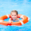 Little girl in the pool — Stock Photo #38472189