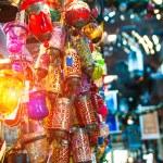 Typical Tuskish Lanterns on sale — Stock Photo