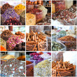 Stock Photo: Collage of photos taken on spices market