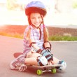 Cute little girl in a helmet — Stock Photo #38761267