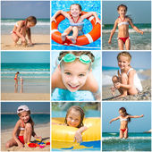 Little girl summer vacation — Stock Photo