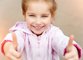 Beautiful liitle girl close-up — Stock Photo