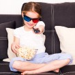 Little girl watching TV — Stock Photo #40541695