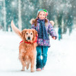 Little girl with her dog — Stock Photo #40748963