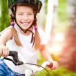 Girl with bicycle — Stock Photo #41776053