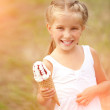 Little girl with ice-cream — Stock Photo #41776059