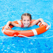 Little girl in the pool — Stock Photo #41776095