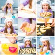 Little girl preparing cookies — Stock Photo #43328369