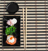 Rolls in a rectangular plate — Stock Photo