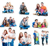 Happy families — Stock Photo