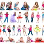 Set photos of little girl — Stock Photo #49449335