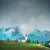 Church on hill — Stock Photo