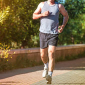 Man jogging — Stock Photo