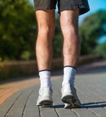 Man running outdoors — Stock Photo