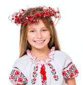 Girl in national Ukrainian costume — Stock Photo