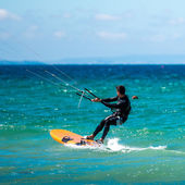 Handsome kite surfer — Stock Photo