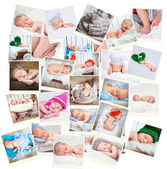 Sweet newborn babies photos — Stock Photo