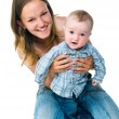 Pretty young women with her son — Stock Photo #5826776