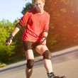 Young active roller blade skater — Stock Photo #6124863