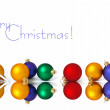 Ñollection of christmas spheres — Stock Photo #7403512