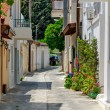 Narrow street in old village — Stock Photo