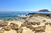Landskap med klippiga kusten — Stockfoto