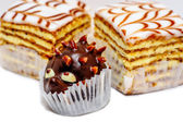 Closup view of sweet cakes — Stock Photo