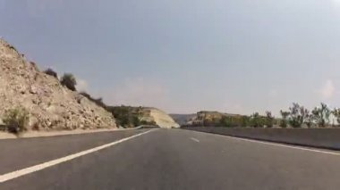 Driving on highway through tunnel time-lapse video — Stock Video