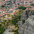Aerial view of small town in Greece — Stock Photo