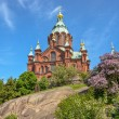 Uspenski cathedral in Helsinki, Finland — Stock Photo