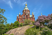 Uspenski cathedral in Helsinki, Finland — 图库照片