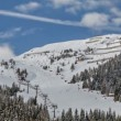 Stock Video: Ski resort in Austrian Alps