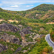 Stock Photo: Road between Meteora rocks
