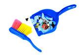 Fırça ve izole çöp ile scoope — Stok fotoğraf