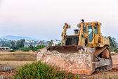 Bulldozer on construction site — Stock Photo