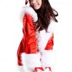 Beautiful woman wearing santa claus — Stock Photo #1343859
