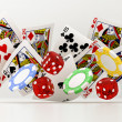 Dice, chips and cards — Stock Photo #44849251