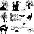 Halloween attributes — Stock Vector