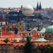 Stock Photo: View of Prague, old town, red tile of Prague roofs