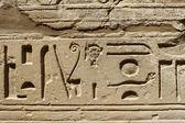 Ancient egypt hieroglyphs — Stock Photo
