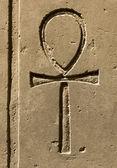 древний египет символ анх высечены на камне — Стоковое фото