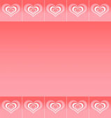 Background with pattern of abstract hearts — Stock Photo
