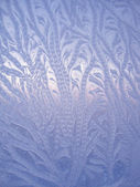 Ice natural pattern on glass — Stock Photo