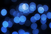 Unfocused blue lights — Stock Photo