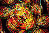 Abstract pattern of motion lights — Stock Photo