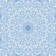 Abstract blue pattern on white - Stock Photo