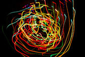 Motion glowing lights lines — Stock Photo