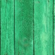 Texture of wooden green fence — Stock Photo