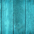 Texture of wooden blue fence — Stock Photo